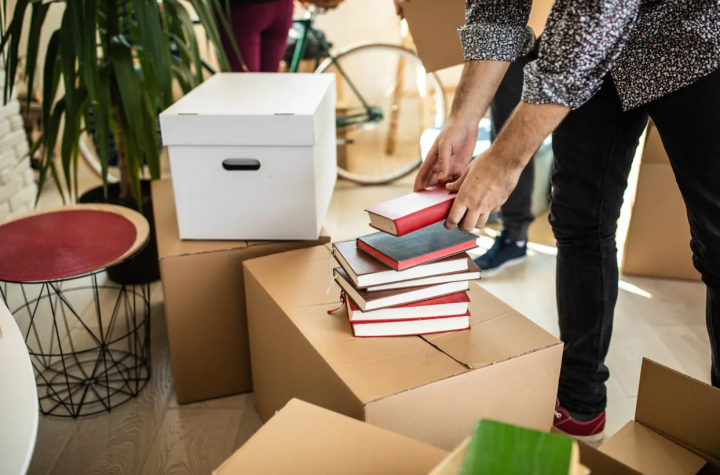 Pack your belongings carefully when moving to a new home